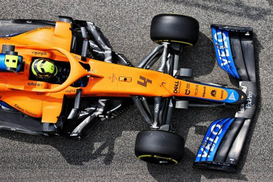 Lando Norris (GBR) McLaren MCL35M. 17.04.2021. Formula 1 World Championship, Rd 2, Emilia Romagna Grand Prix, Imola, Italy, Qualifying Day. - www.xpbimages.com, EMail: requests@xpbimages.com © Copyright: Batchelor / XPB Images