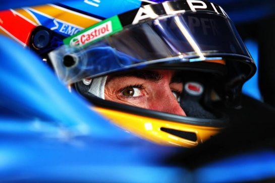 Fernando Alonso (ESP) Alpine F1 Team A521. 17.04.2021. Formula 1 World Championship, Rd 2, Emilia Romagna Grand Prix, Imola, Italy, Qualifying Day. - www.xpbimages.com, EMail: requests@xpbimages.com © Copyright: Moy / XPB Images