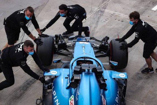 Fernando Alonso (ESP), Alpine F1 Team 17.04.2021. Formula 1 World Championship, Rd 2, Emilia Romagna Grand Prix, Imola, Italy, Qualifying Day.- www.xpbimages.com, EMail: requests@xpbimages.com © Copyright: Charniaux / XPB Images