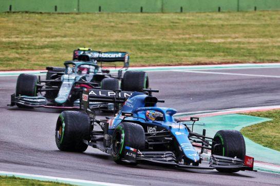 Fernando Alonso (ESP) Alpine F1 Team A521. 18.04.2021. Formula 1 World Championship, Rd 2, Emilia Romagna Grand Prix, Imola, Italy, Race Day. - www.xpbimages.com, EMail: requests@xpbimages.com © Copyright: Charniaux / XPB Images