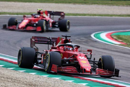 Charles Leclerc (MON) Ferrari SF-21. 18.04.2021. Formula 1 World Championship, Rd 2, Emilia Romagna Grand Prix, Imola, Italy, Race Day. - www.xpbimages.com, EMail: requests@xpbimages.com © Copyright: Charniaux / XPB Images