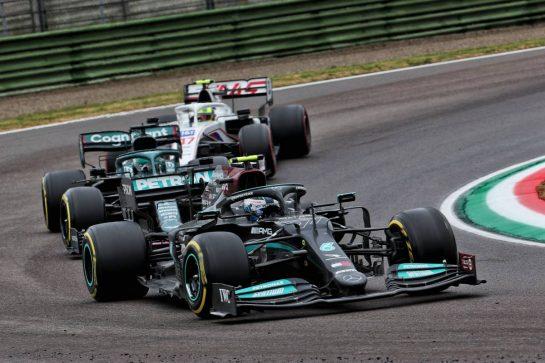 Valtteri Bottas (FIN) Mercedes AMG F1 W12. 18.04.2021. Formula 1 World Championship, Rd 2, Emilia Romagna Grand Prix, Imola, Italy, Race Day. - www.xpbimages.com, EMail: requests@xpbimages.com © Copyright: Batchelor / XPB Images