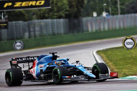 Fernando Alonso (ESP) Alpine F1 Team A521. 18.04.2021. Formula 1 World Championship, Rd 2, Emilia Romagna Grand Prix, Imola, Italy, Race Day. - www.xpbimages.com, EMail: requests@xpbimages.com © Copyright: Batchelor / XPB Images