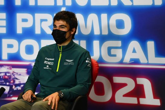 Lance Stroll (CDN) Aston Martin F1 Team in the FIA Press Conference.