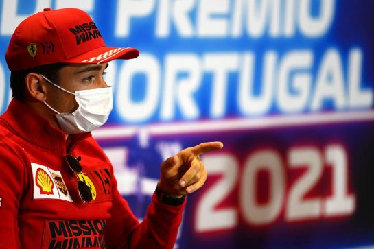Charles Leclerc (MON) Ferrari in the FIA Press Conference. 29.04.2021. Formula 1 World Championship, Rd 3, Portuguese Grand Prix, Portimao, Portugal, Preparation Day. - www.xpbimages.com, EMail: requests@xpbimages.com © Copyright: FIA Pool Image for Editorial Use Only