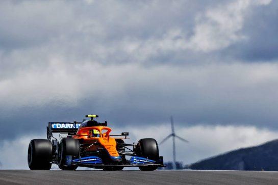 Lando Norris (GBR) McLaren MCL35M. 30.04.2021. Formula 1 World Championship, Rd 3, Portuguese Grand Prix, Portimao, Portugal, Practice Day.  - www.xpbimages.com, EMail: requests@xpbimages.com © Copyright: Staley / XPB Images