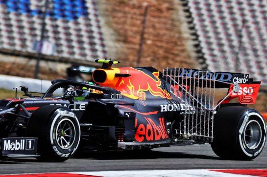 Sergio Perez (MEX) Red Bull Racing RB16B - rake sensor equipment. 30.04.2021. Formula 1 World Championship, Rd 3, Portuguese Grand Prix, Portimao, Portugal, Practice Day. - www.xpbimages.com, EMail: requests@xpbimages.com © Copyright: Batchelor / XPB Images