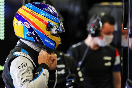Fernando Alonso (ESP) Alpine F1 Team. 30.04.2021. Formula 1 World Championship, Rd 3, Portuguese Grand Prix, Portimao, Portugal, Practice Day. - www.xpbimages.com, EMail: requests@xpbimages.com © Copyright: Charniaux / XPB Images