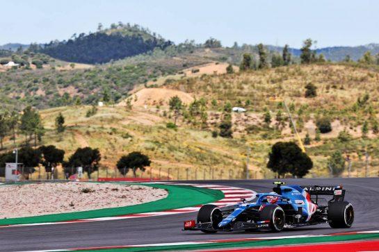 Esteban Ocon (FRA) Alpine F1 Team A521. 30.04.2021. Formula 1 World Championship, Rd 3, Portuguese Grand Prix, Portimao, Portugal, Practice Day. - www.xpbimages.com, EMail: requests@xpbimages.com © Copyright: Batchelor / XPB Images