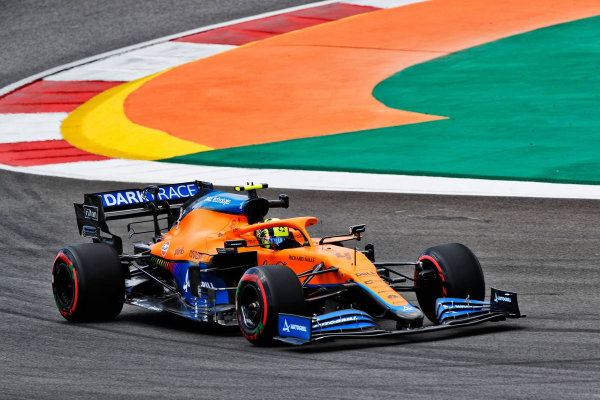Lando Norris (GBR) McLaren MCL35M. 30.04.2021. Formula 1 World Championship, Rd 3, Portuguese Grand Prix, Portimao