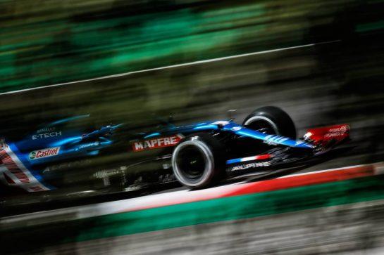 Fernando Alonso (ESP) Alpine F1 Team A521. 30.04.2021. Formula 1 World Championship, Rd 3, Portuguese Grand Prix, Portimao, Portugal, Practice Day.  - www.xpbimages.com, EMail: requests@xpbimages.com © Copyright: Staley / XPB Images