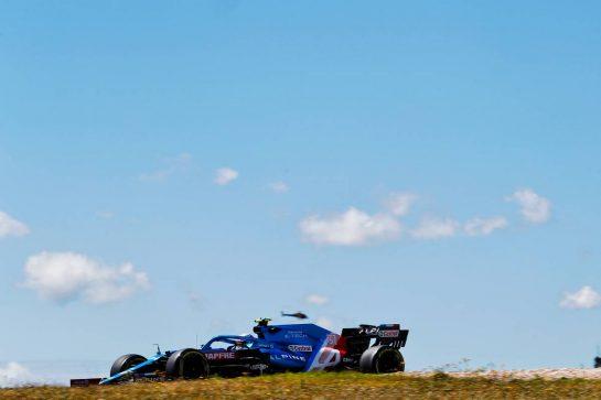 Esteban Ocon (FRA) Alpine F1 Team A521. 30.04.2021. Formula 1 World Championship, Rd 3, Portuguese Grand Prix, Portimao, Portugal, Practice Day.  - www.xpbimages.com, EMail: requests@xpbimages.com © Copyright: Staley / XPB Images