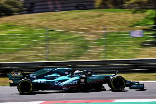 Sebastian Vettel (GER) Aston Martin F1 Team AMR21. 30.04.2021. Formula 1 World Championship, Rd 3, Portuguese Grand Prix, Portimao, Portugal, Practice Day. - www.xpbimages.com, EMail: requests@xpbimages.com © Copyright: Batchelor / XPB Images