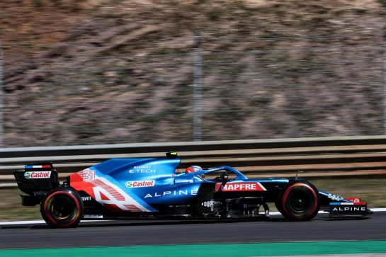 Esteban Ocon (FRA) Alpine F1 Team A521. 30.04.2021. Formula 1 World Championship, Rd 3, Portuguese Grand Prix, Portimao, Portugal, Practice Day. - www.xpbimages.com, EMail: requests@xpbimages.com © Copyright: Batchelor / XPB Images