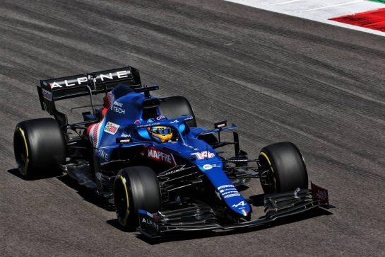 Fernando Alonso (ESP) Alpine F1 Team A521. 30.04.2021. Formula 1 World Championship, Rd 3, Portuguese Grand Prix, Portimao, Portugal, Practice Day. - www.xpbimages.com, EMail: requests@xpbimages.com © Copyright: Batchelor / XPB Images