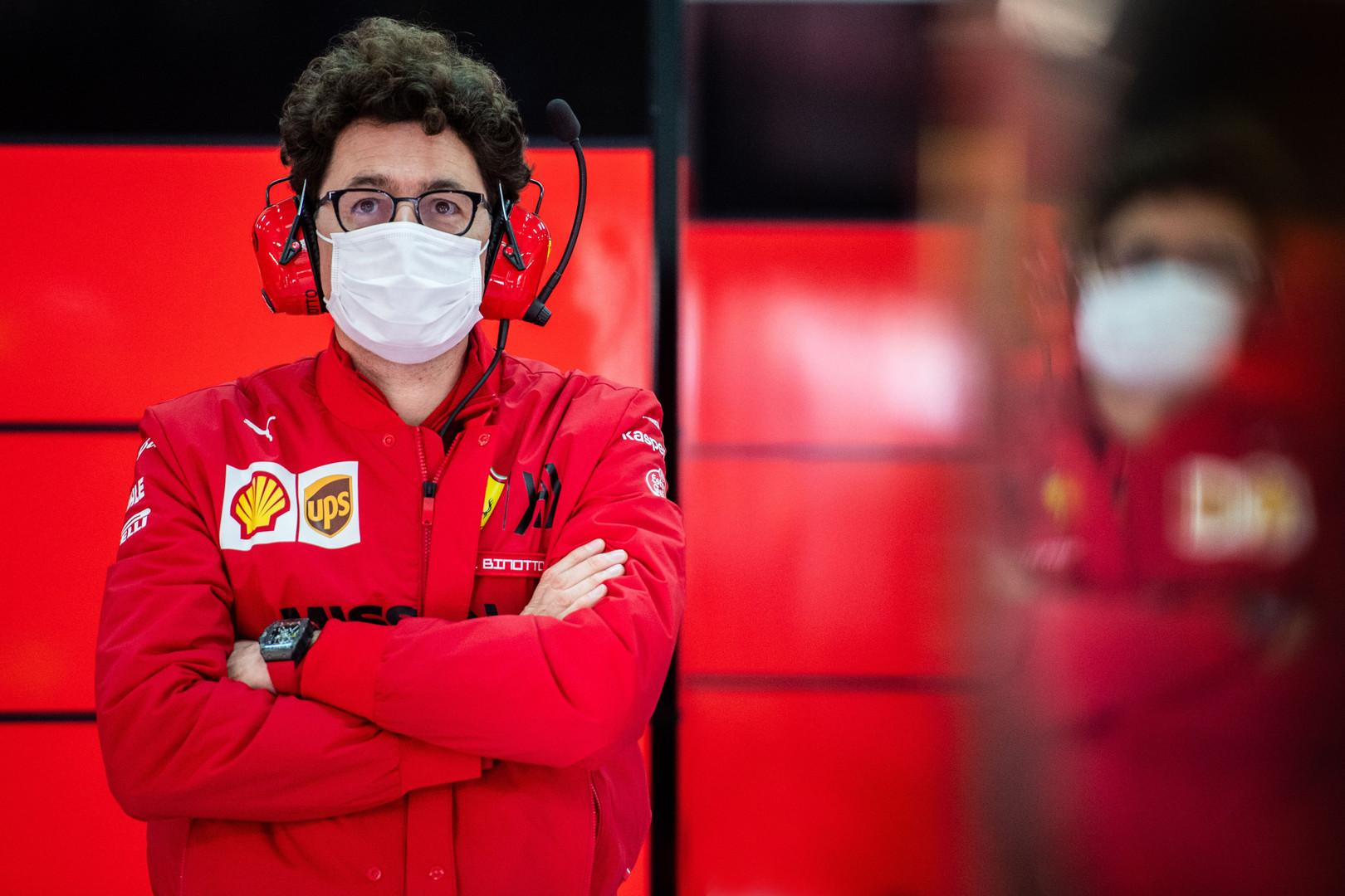 'Unhappy' Binotto proves Ferrari going 'in the right direction'