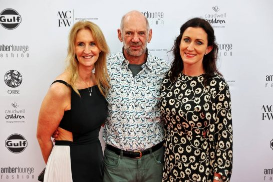 (L to R): Sonia Irvine (GBR) with Adrian Newey (GBR) Red Bull Racing Chief Technical Officer and his wife Amanda Newey (GBR) at the Amber Lounge Fashion Show. 21.05.2021. Formula 1 World Championship, Rd 5, Monaco Grand Prix, Monte Carlo, Monaco, Friday. - www.xpbimages.com, EMail: requests@xpbimages.com © Copyright: Batchelor / XPB Images