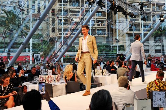 George Russell (GBR) Williams Racing at the Amber Lounge Fashion Show. 21.05.2021. Formula 1 World Championship, Rd 5, Monaco Grand Prix, Monte Carlo, Monaco, Friday. - www.xpbimages.com, EMail: requests@xpbimages.com © Copyright: Batchelor / XPB Images