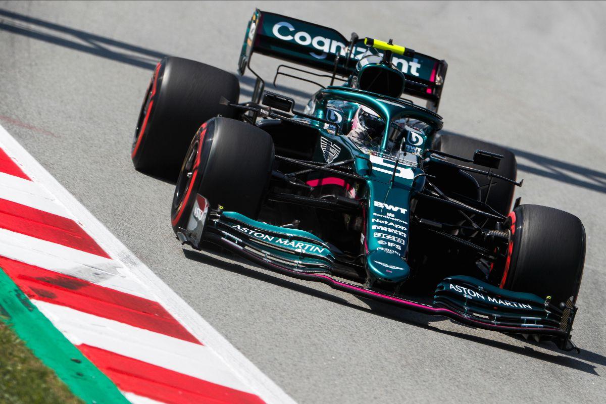 Sebastian Vettel - Aston Martin - Spanish Grand Prix practice - Barcelona - May 7 2021.
