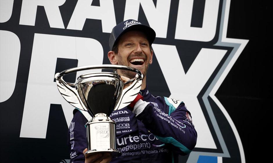 Grosjean: Leading IndyCar race 'felt like the good old days'