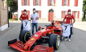 Ronaldo drops in on Ferrari fan boys at Maranello