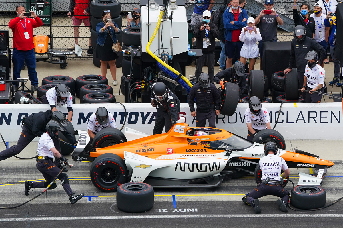 Juan Pablo Montoya - Miller Lite Carb Day. May 28 2021. (Photo by: Dana Garrett for IndyCar Media)