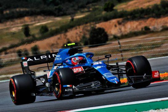 Esteban Ocon (FRA) Alpine F1 Team A521. 01.05.2021. Formula 1 World Championship, Rd 3, Portuguese Grand Prix, Portimao, Portugal, Qualifying Day.  - www.xpbimages.com, EMail: requests@xpbimages.com © Copyright: Staley / XPB Images