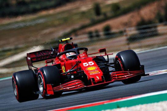 Carlos Sainz Jr (ESP) Ferrari SF-21. 01.05.2021. Formula 1 World Championship, Rd 3, Portuguese Grand Prix, Portimao, Portugal, Qualifying Day.  - www.xpbimages.com, EMail: requests@xpbimages.com © Copyright: Staley / XPB Images