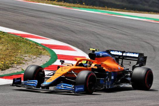 Lando Norris (GBR) McLaren MCL35M. 01.05.2021. Formula 1 World Championship, Rd 3, Portuguese Grand Prix, Portimao, Portugal, Qualifying Day. - www.xpbimages.com, EMail: requests@xpbimages.com © Copyright: Batchelor / XPB Images