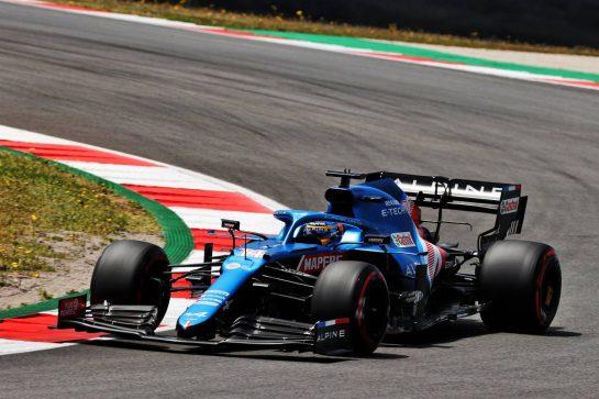 Fernando Alonso (ESP) Alpine F1 Team A521. 01.05.2021. Formula 1 World Championship, Rd 3, Portuguese Grand Prix, Portimao, Portugal, Qualifying Day. - www.xpbimages.com, EMail: requests@xpbimages.com © Copyright: Batchelor / XPB Images