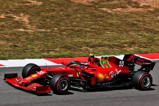 Carlos Sainz Jr (ESP) Ferrari SF-21. 01.05.2021. Formula 1 World Championship, Rd 3, Portuguese Grand Prix, Portimao, Portugal, Qualifying Day. - www.xpbimages.com, EMail: requests@xpbimages.com © Copyright: Batchelor / XPB Images