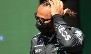 Hamilton didn't expect to be on the front row