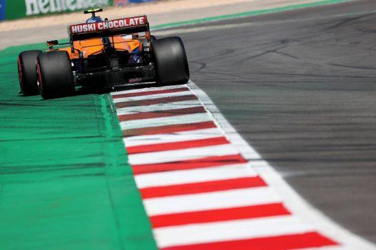Lando Norris (GBR) McLaren MCL35M.01.05.2021. Formula 1 World Championship, Rd 3, Portuguese Grand Prix, Portimao, Portugal, Qualifying Day.- www.xpbimages.com, EMail: requests@xpbimages.com © Copyright: Batchelor / XPB Images