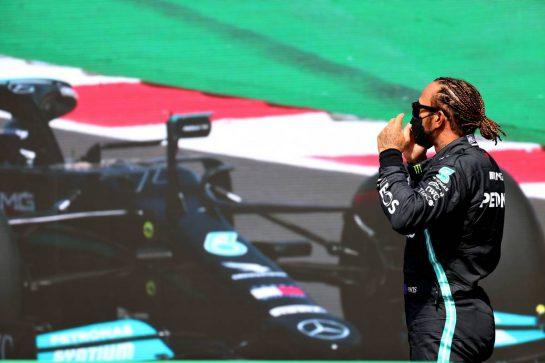 Lewis Hamilton (GBR) Mercedes AMG F1.01.05.2021. Formula 1 World Championship, Rd 3, Portuguese Grand Prix, Portimao, Portugal, Qualifying Day.- www.xpbimages.com, EMail: requests@xpbimages.com © Copyright: Batchelor / XPB Images