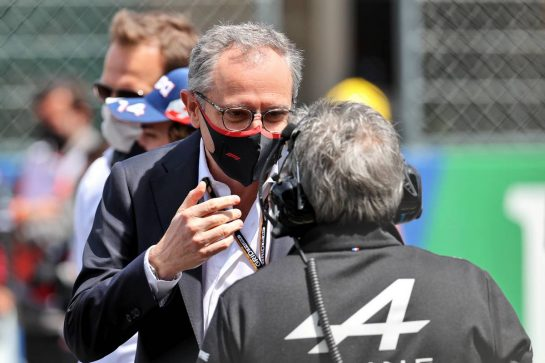 Stefano Domenicali (ITA) Formula One President and CEO on the grid. 02.05.2021. Formula 1 World Championship, Rd 3, Portuguese Grand Prix, Portimao, Portugal, Race Day. - www.xpbimages.com, EMail: requests@xpbimages.com © Copyright: Batchelor / XPB Images