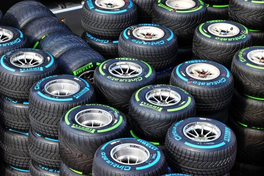 Pirelli trucks in the paddock. 06.05.2021. Formula 1 World Championship, Rd 4, Spanish Grand Prix, Barcelona, Spain, Preparation Day. - www.xpbimages.com, EMail: requests@xpbimages.com © Copyright: Moy / XPB Images