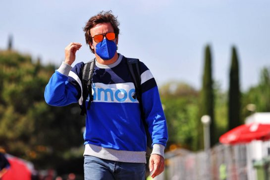 Fernando Alonso (ESP) Alpine F1 Team. 06.05.2021. Formula 1 World Championship, Rd 4, Spanish Grand Prix, Barcelona, Spain, Preparation Day. - www.xpbimages.com, EMail: requests@xpbimages.com © Copyright: Batchelor / XPB Images