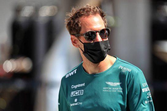 Sebastian Vettel (GER) Aston Martin F1 Team. 06.05.2021. Formula 1 World Championship, Rd 4, Spanish Grand Prix, Barcelona, Spain, Preparation Day. - www.xpbimages.com, EMail: requests@xpbimages.com © Copyright: Batchelor / XPB Images