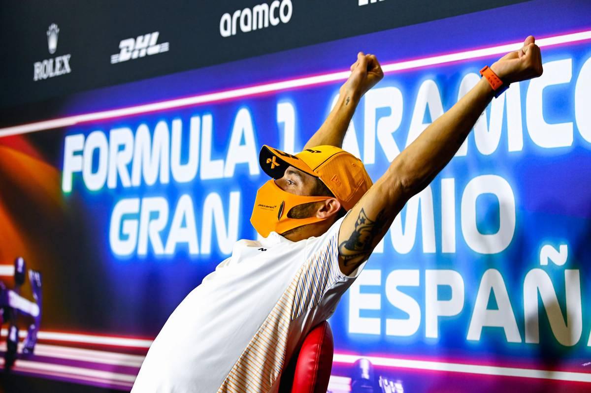 Daniel Ricciardo (AUS) McLaren in the FIA Press Conference. 06.05.2021. Formula 1 World Championship, Rd 4, Spanish Grand Prix, Barcelona