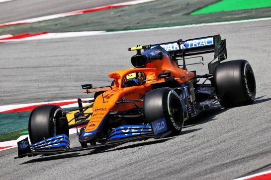 Lando Norris (GBR) McLaren MCL35M. 07.05.2021 Formula 1 World Championship, Rd 4, Spanish Grand Prix, Barcelona, Spain, Practice Day. - www.xpbimages.com, EMail: requests@xpbimages.com © Copyright: Moy / XPB Images