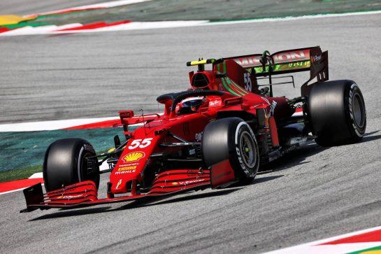 Carlos Sainz Jr (ESP) Ferrari SF-21. 07.05.2021 Formula 1 World Championship, Rd 4, Spanish Grand Prix, Barcelona, Spain, Practice Day. - www.xpbimages.com, EMail: requests@xpbimages.com © Copyright: Moy / XPB Images