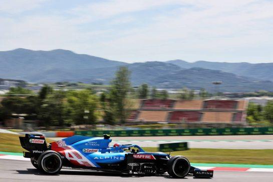 Esteban Ocon (FRA) Alpine F1 Team A521. 07.05.2021 Formula 1 World Championship, Rd 4, Spanish Grand Prix, Barcelona, Spain, Practice Day. - www.xpbimages.com, EMail: requests@xpbimages.com © Copyright: Batchelor / XPB Images