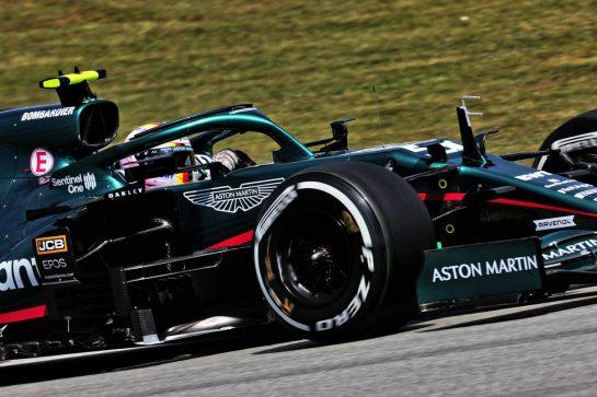 Sebastian Vettel (GER) Aston Martin F1 Team AMR21. 07.05.2021 Formula 1 World Championship, Rd 4, Spanish Grand Prix, Barcelona, Spain, Practice Day. - www.xpbimages.com, EMail: requests@xpbimages.com © Copyright: Batchelor / XPB Images