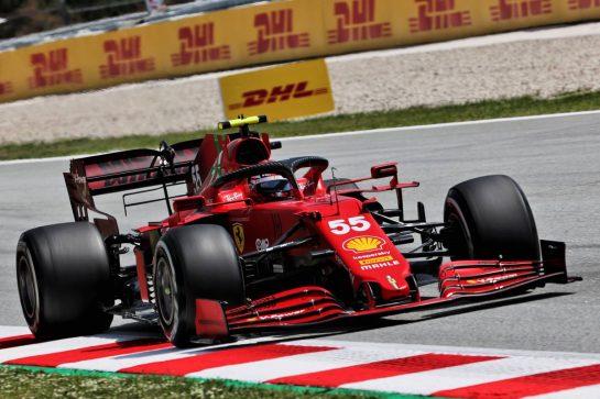 Carlos Sainz Jr (ESP) Ferrari SF-21. 07.05.2021 Formula 1 World Championship, Rd 4, Spanish Grand Prix, Barcelona, Spain, Practice Day. - www.xpbimages.com, EMail: requests@xpbimages.com © Copyright: Batchelor / XPB Images