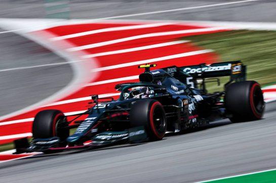 Sebastian Vettel (GER) Aston Martin F1 Team AMR21. 07.05.2021 Formula 1 World Championship, Rd 4, Spanish Grand Prix, Barcelona, Spain, Practice Day. - www.xpbimages.com, EMail: requests@xpbimages.com © Copyright: Moy / XPB Images