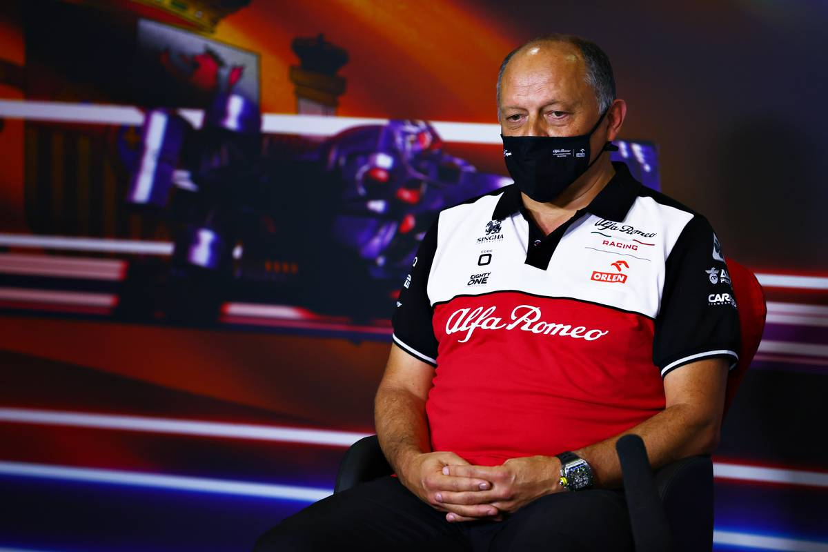 Frederic Vasseur (FRA) Alfa Romeo Racing Team Principal in the FIA Press Conference. 07.05.2021 Formula 1 World Championship, Rd 4, Spanish Grand Prix, Barcelon