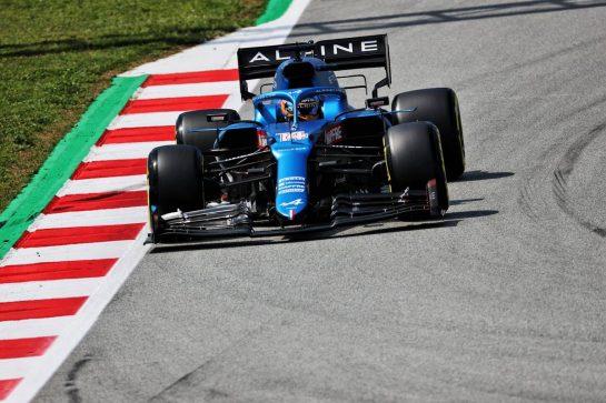 Fernando Alonso (ESP) Alpine F1 Team A521. 07.05.2021 Formula 1 World Championship, Rd 4, Spanish Grand Prix, Barcelona, Spain, Practice Day. - www.xpbimages.com, EMail: requests@xpbimages.com © Copyright: Batchelor / XPB Images