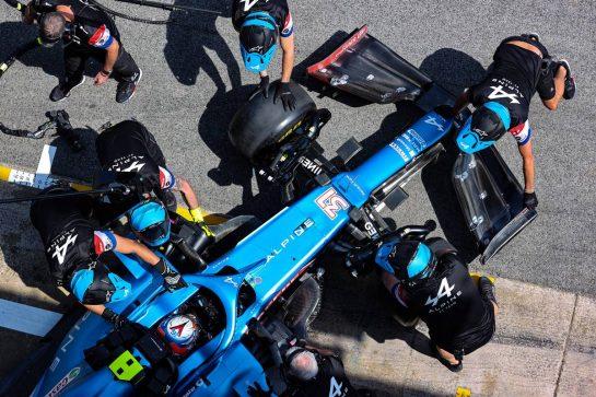 Esteban Ocon (FRA) Alpine F1 Team A521. 07.05.2021 Formula 1 World Championship, Rd 4, Spanish Grand Prix, Barcelona, Spain, Practice Day. - www.xpbimages.com, EMail: requests@xpbimages.com © Copyright: Charniaux / XPB Images