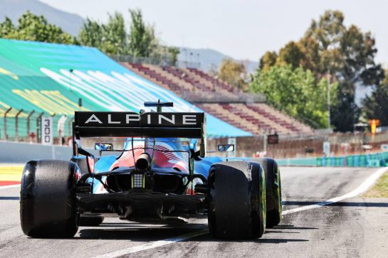 Fernando Alonso (ESP) Alpine F1 Team A521. 08.05.2021. Formula 1 World Championship, Rd 4, Spanish Grand Prix, Barcelona, Spain, Qualifying Day. - www.xpbimages.com, EMail: requests@xpbimages.com © Copyright: Batchelor / XPB Images