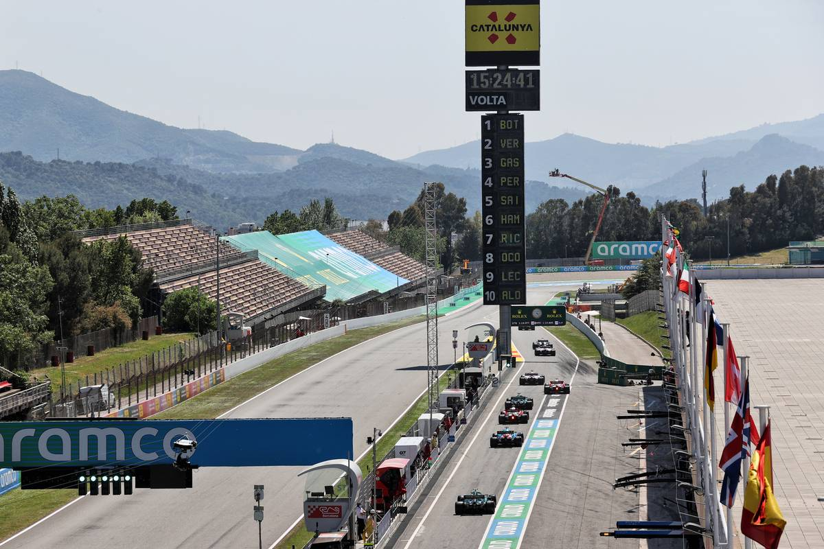 Sebastian Vettel (GER) Aston Martin F1 Team AMR21. 08.05.2021. Formula 1 World Championship, Rd 4, Spanish Grand Prix, Barcelona, Spain